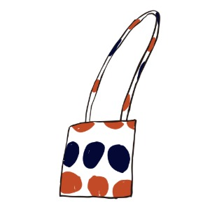 bag (orange & navy)