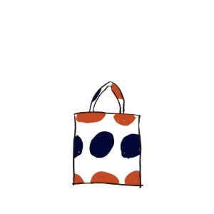 bag_tote (orange & navy)