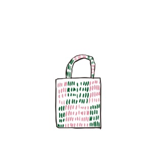 bag_tote (pink & green)