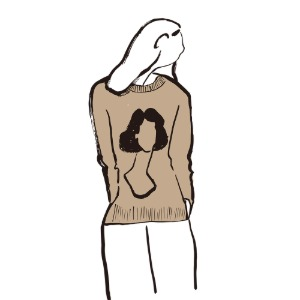 [예약판매] knit_silhouette (light brown)